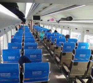 Interior Kereta Api Brantas