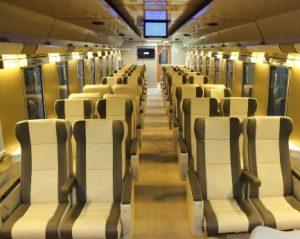 Interior Kereta Api Cirebon Ekpres Mewah