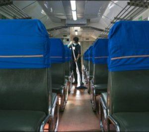 Interior Kereta Api Gaya Baru Malam