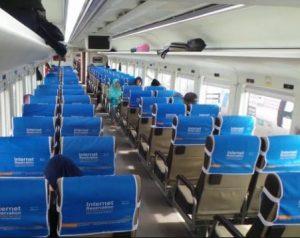 Interior Kereta Api Kamandaka