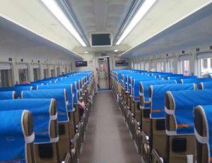 Interior Kereta Api Kertajaya