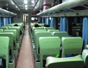 Interior kereta api harina
