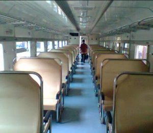 Interior kereta api majapahit