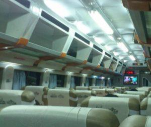 Interior mewah kereta api Argo Sindoro