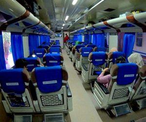 Interior mewah kereta api Bangunkarta