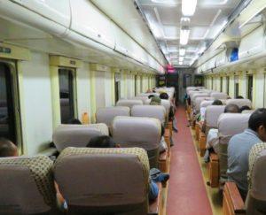 Inerior Kereta api Senja Utama Solo