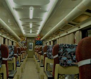 Interior Kereta Api Purwojaya