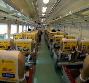 Interior Kereta Api Argo Bromo Anggrek