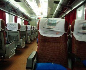 Interior Kereta Api Argo Jati