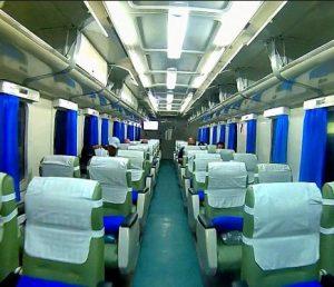Interior Kereta Api Sembrani