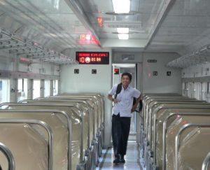 Interior kereta api Gajah Wong