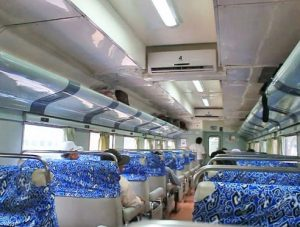 Interior Kereta Api Senja Utama Yogya