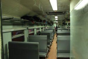 Interior Kereta Api Serayu Malam