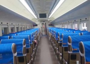 Interior Kereta api Siantar Ekspres