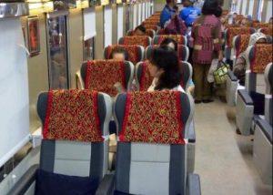Interior kereta api tegal ekspres