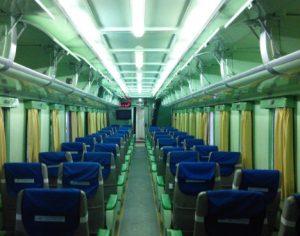 interior kereta api turangga